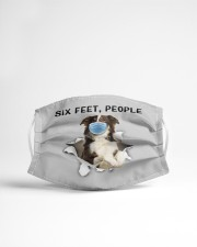 Border Collie Six Feet People FM Cloth face mask aos-face-mask-lifestyle-22