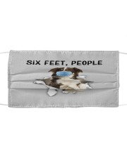 Border Collie Six Feet People FM Cloth face mask front