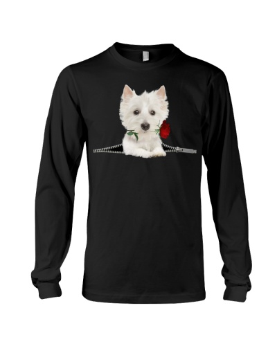 West Highland White Terrier Rose Face