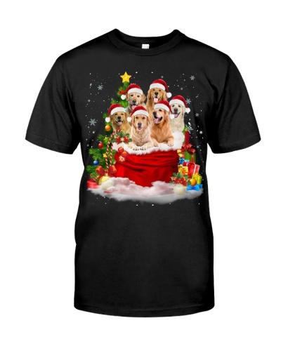 Golden Retriever-Santa Claus Bag