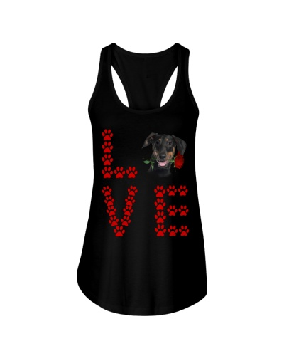 Doberman Paw Love Rose