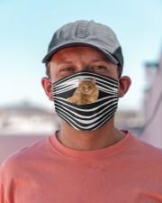 Manx Cat Stripes FM Cloth face mask aos-face-mask-lifestyle-06