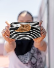 Manx Cat Stripes FM Cloth face mask aos-face-mask-lifestyle-07