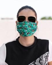 English Springer Spaniel Summer Leaves FM Cloth face mask aos-face-mask-lifestyle-02