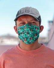 English Springer Spaniel Summer Leaves FM Cloth face mask aos-face-mask-lifestyle-06