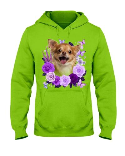 Chihuahua 02 Purple Flower Face