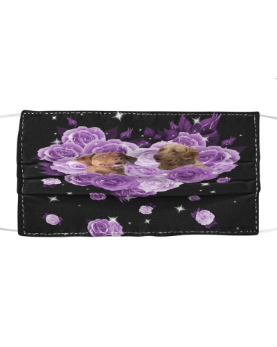 Chesapeake Bay Retriever Purple Flower Heart Face
