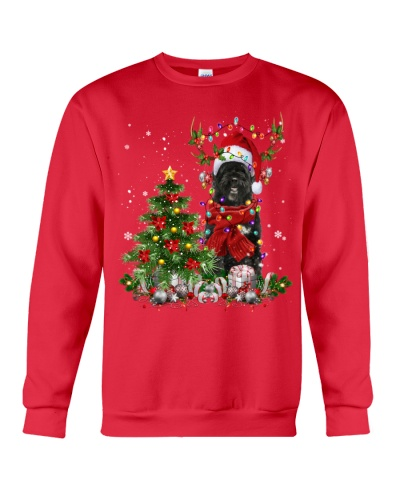 Portuguese Water Dog-Reindeer-Christmas