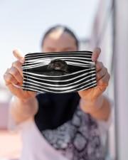 Black Cockerpoo Stripes FM Cloth face mask aos-face-mask-lifestyle-07