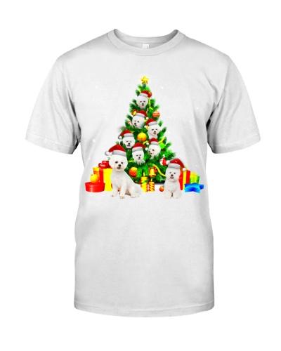 Bichon Frises-Christmas Tree