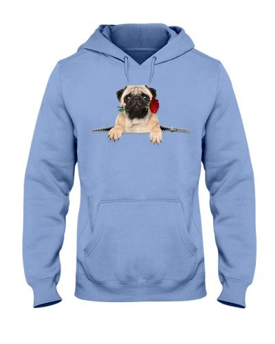 Pug Rose Face