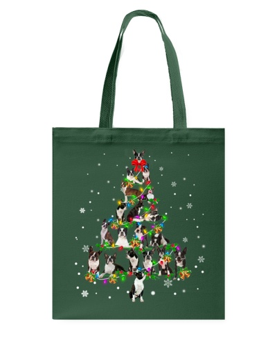Boston Terrier - Christmas Tree