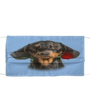 Dachshund Rose FM Cloth face mask front