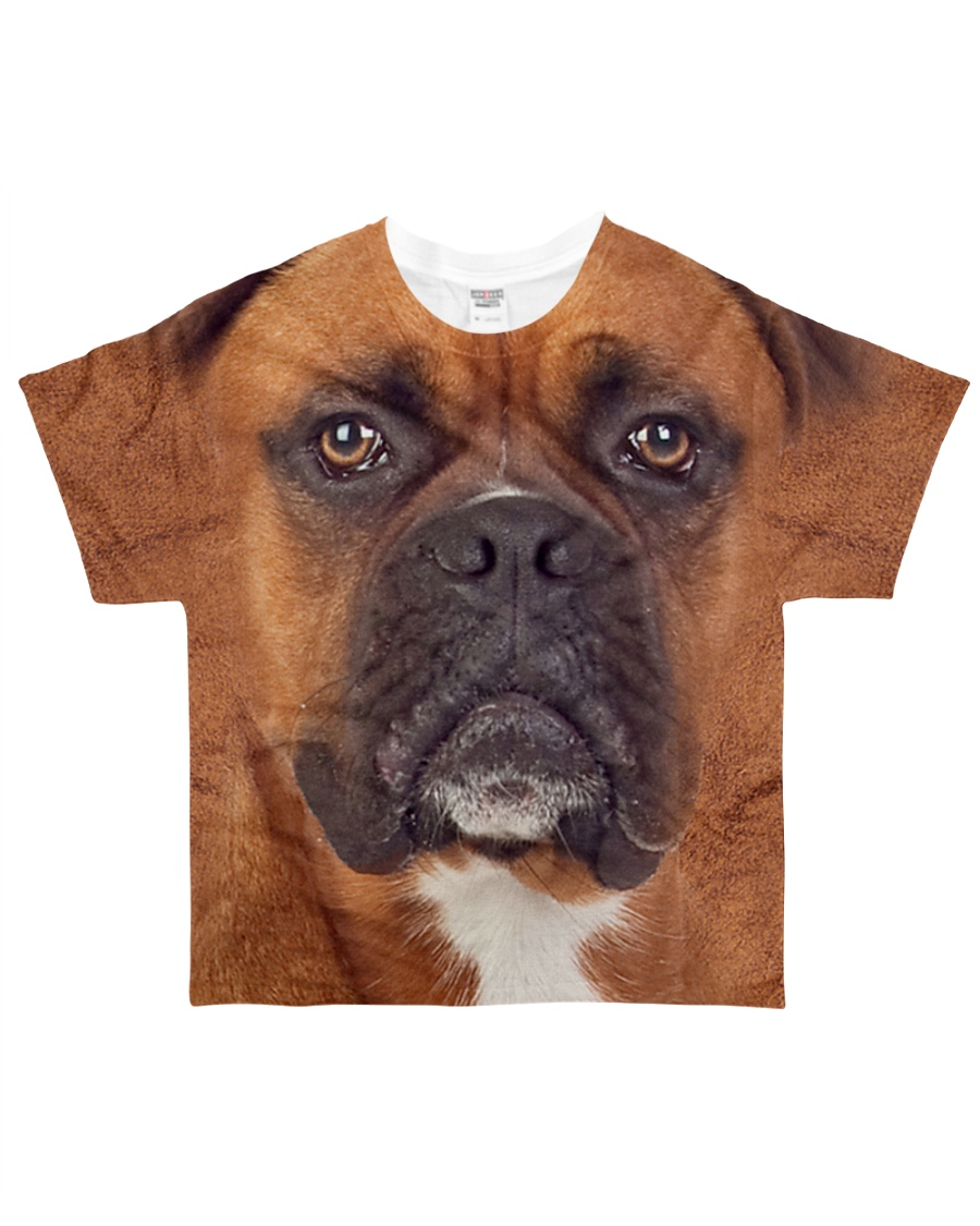 Boxer-Face and Hair All-over T-Shirt