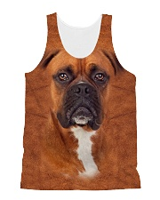 Boxer-Face and Hair All-over Unisex Tank thumbnail