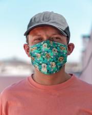 Golden Retriever Summer Leaves FM Cloth face mask aos-face-mask-lifestyle-06