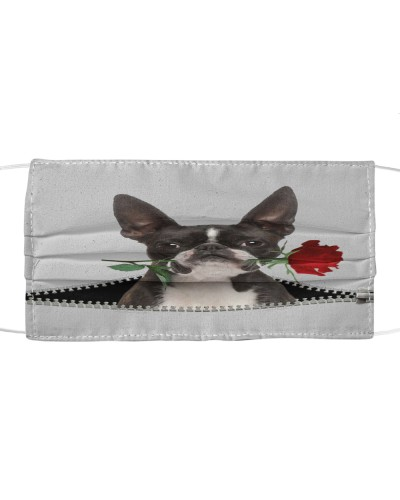 Boston Terrier Rose Face