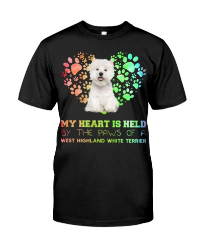 West Highland White Terrier Heart Paw