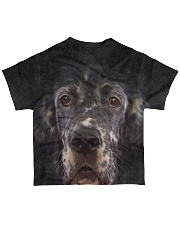 English Setter-Face and Hair All-over T-Shirt back