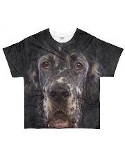English Setter-Face and Hair All-over T-Shirt front