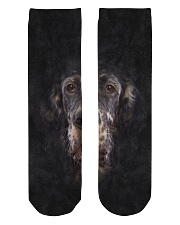 English Setter-Face and Hair Crew Length Socks thumbnail