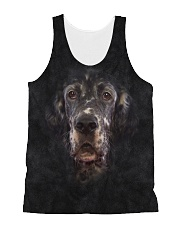 English Setter-Face and Hair All-over Unisex Tank thumbnail