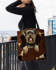 Yorkshire Terrier-NT056-Handbag All-over Tote aos-all-over-tote-lifestyle-front-05