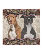 American Pit Bull Terrier Boho Pattern FM Cloth face mask aos-face-mask-coverlet-lifestyle-front-02