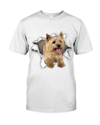 Cairn Terrier-Torn Paper Effect