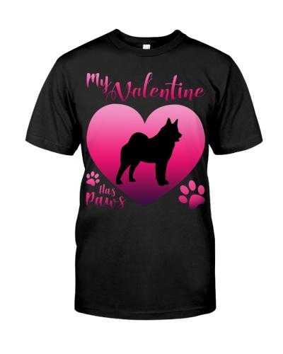 Norwegian Elkhound-My Valentine Has Paws