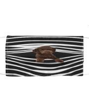 Australian Labradoodle Stripes FM Cloth face mask front