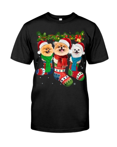 Pomeranian-Christmas Sock