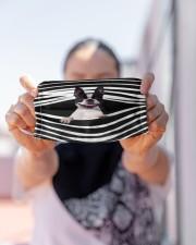 Boston Terrier Stripes FM Cloth face mask aos-face-mask-lifestyle-07