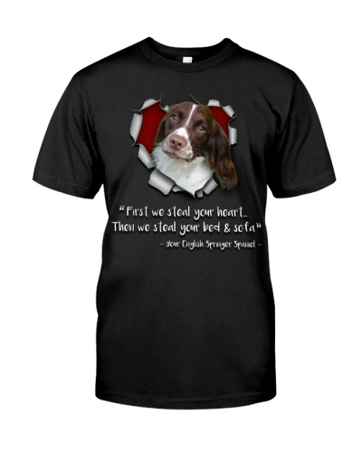 English Springer Spaniel-Torn Paper Heart