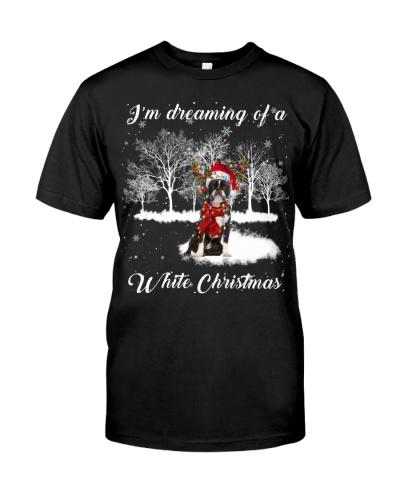 Boston Terrier-White Christmas