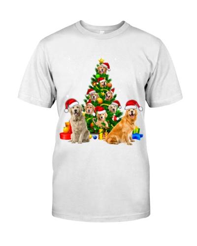 Golden Retrievers-Christmas Tree
