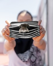 German Shorthaired Pointer Stripes FM Cloth face mask aos-face-mask-lifestyle-07