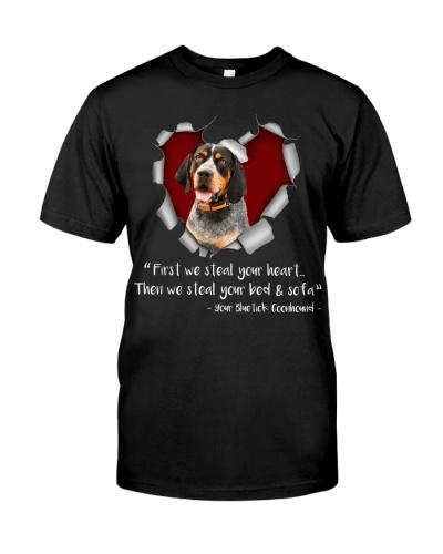 Bluetick Coonhound-Torn Paper Heart