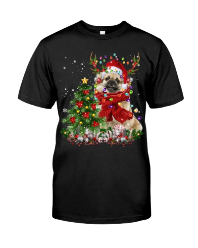 Tibetan Spaniel-Reindeer-Christmas