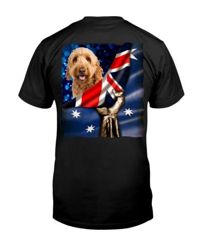 Flag of Australia-Goldendoodle