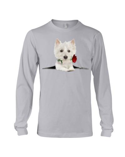 West Highland White Terrier-Rose-Zipper