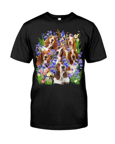 Basset Hound Purple Flowering Shrubs