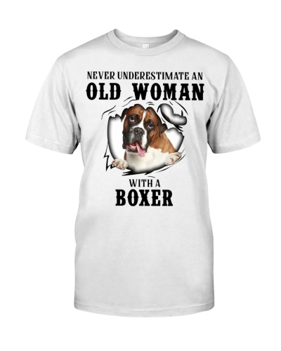 Old Woman With A Boxer
