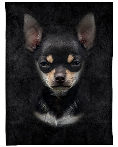 Black Chihuahua Face 3D