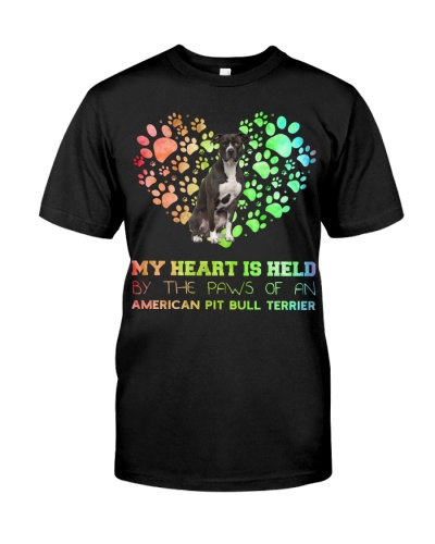American Pit Pull Terrier Heart Paw