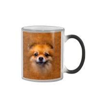 Pomeranian-Face and Hair Color Changing Mug tile