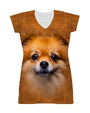 Pomeranian-Face and Hair All-over Dress thumbnail