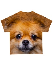 Pomeranian-Face and Hair All-over T-Shirt back