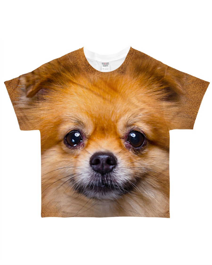 Pomeranian-Face and Hair All-over T-Shirt