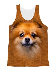 Pomeranian-Face and Hair All-over Unisex Tank thumbnail